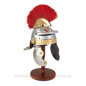 Viking Helmet Red/Stand
