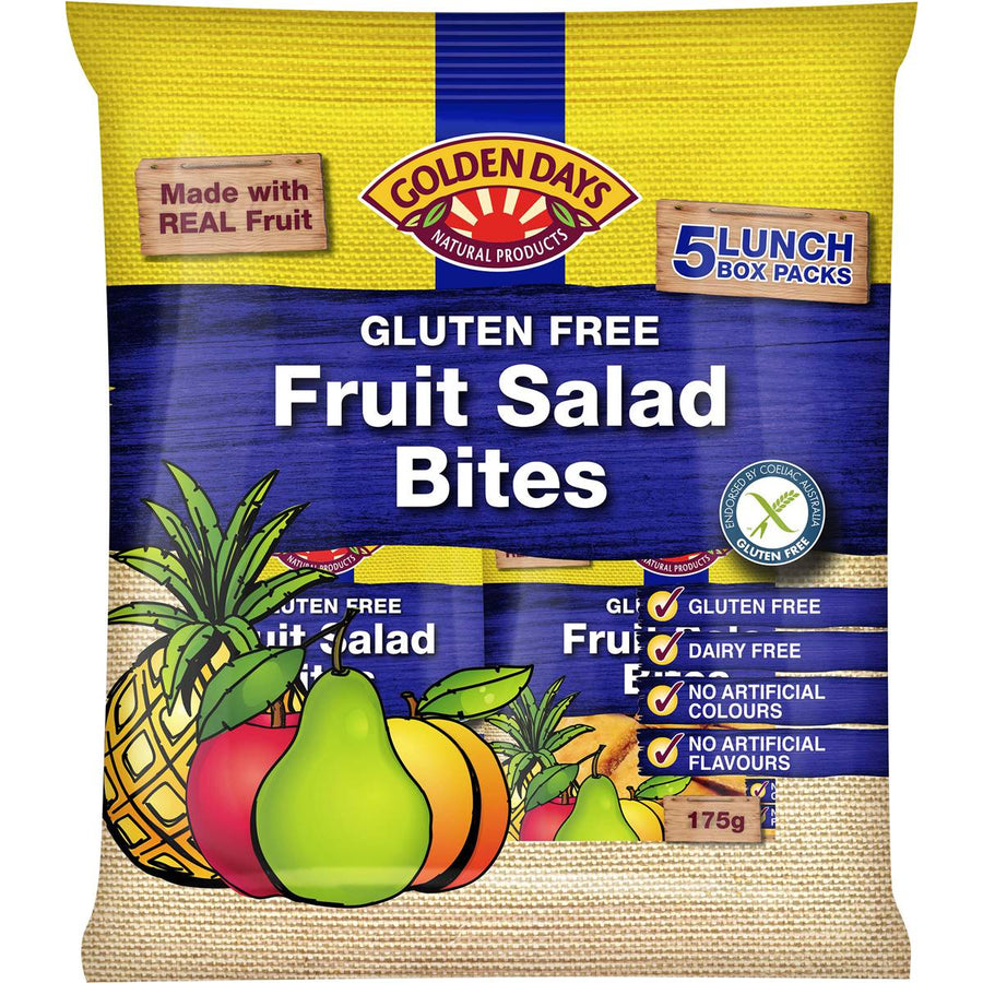 Golden Days Fruit Salad Bites 5pk 175g