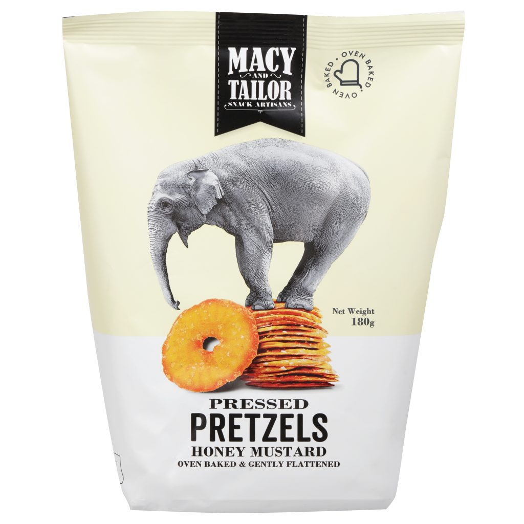 Macy & Tailor Pretzels Honey Mustard 180g