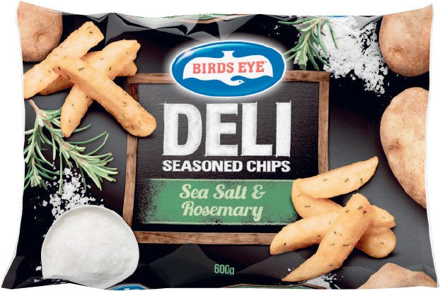 Birds Eye Deli Seasoned Sea Salt Rosemary Chips 600g