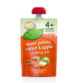 Raffertys Garden Sweet Potato, Carrot And Apple 120g