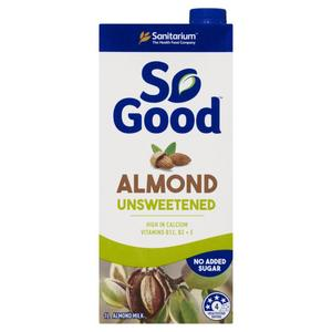 Sanitarium So Good Almond Unsweetened Milk UHT 1L