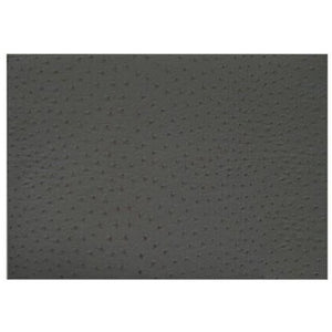 Bella Tavolo Placemat Faux Ostrich Leather Black