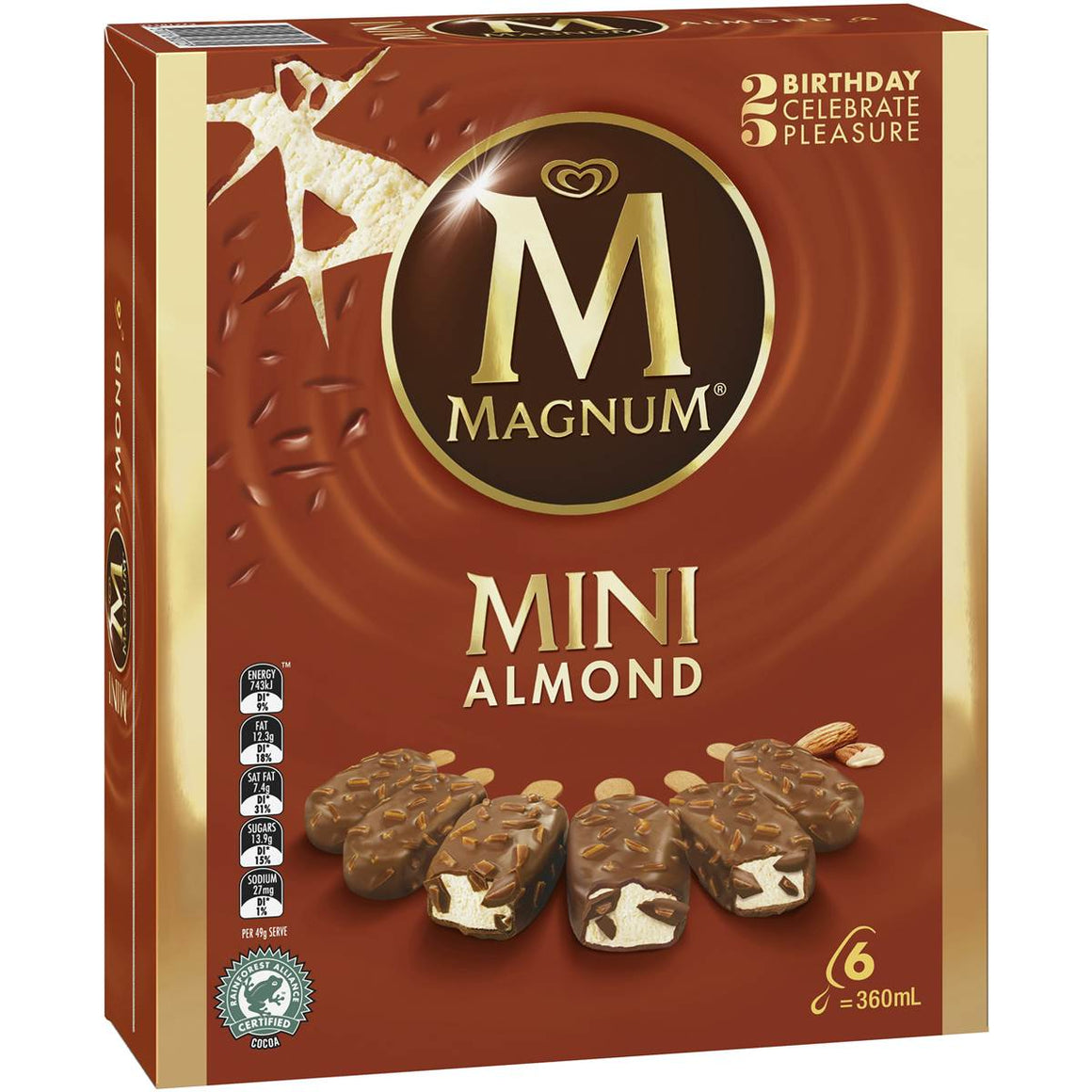 Magnum Mini Ice Cream Almond 6 pack
