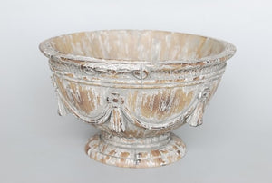 French Provincial Bowl , Wood Look