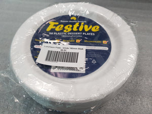 Festive Luncheon Plate - White 7 inch (180mm) 50pk
