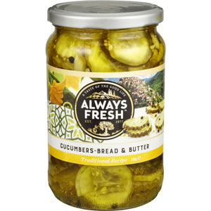 Always Fresh Bread & Butter Cucumbers 700g