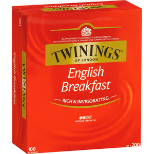 Twinings English Breakfast Tea Bags 100pk