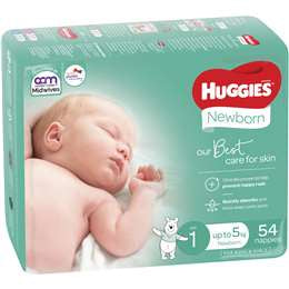 Huggies Ultimate Newborn 54pk