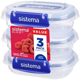 Sistema Klip It Plus Rectangle 180ml 3 pack