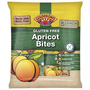 Golden Days Apricot Bites  5 Pk 200g