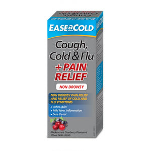 EaseaCold Cough, Cold & Flu + Pain Relief 200ml