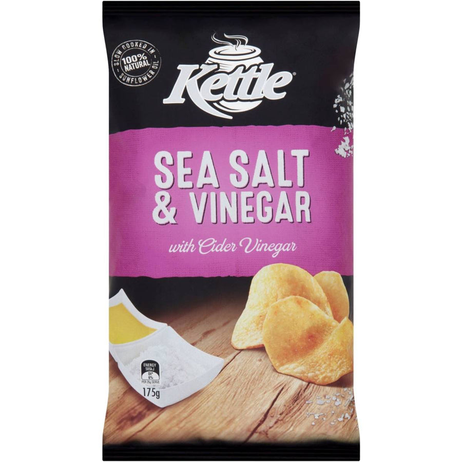 Kettle Sea Salt & Vinegar Chips 175g