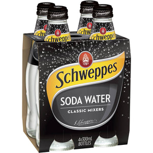Schweppes Soda Water 330ml x 4pk