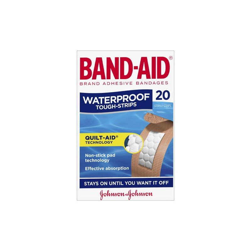 Band Aid Tough Strips Waterproof Regular 20pk