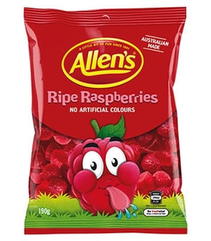 Allens Ripe Raspberries 190g