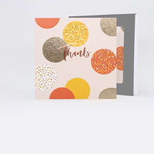 Greeting Card, Thanks, Circles Orange