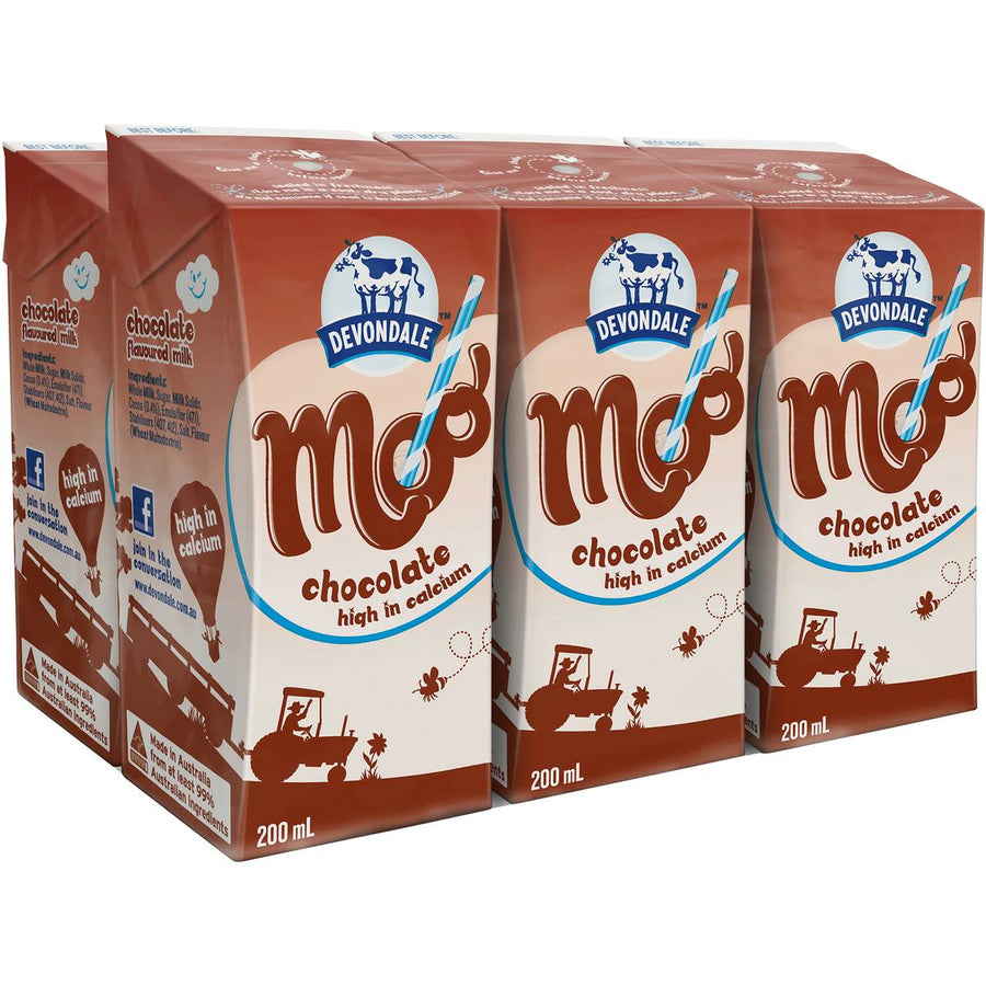 Moo Chocolate Milk 200mL 6pk