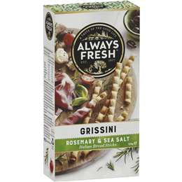 Always Fresh Grissini Sticks Rosemary & Sea Salt 125g