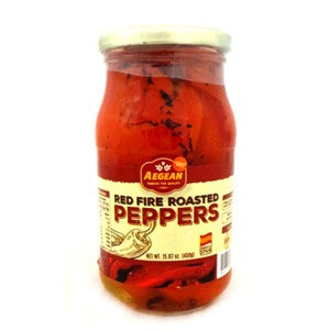 Aegean Red Fire Roasted Peppers 450g