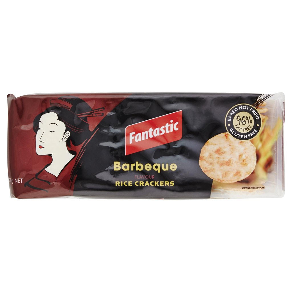 Fantastic Rice Crackers BBQ 100g