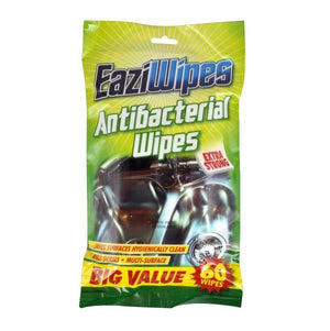 Eaziwipes Antibacterial Wipes 60pk