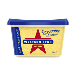 Western Star Supersoft Spreadable 500g Salt Reduced
