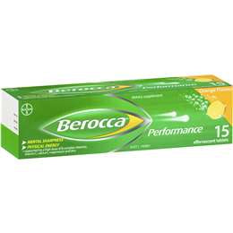 Berocca Performance Orange Effervescent Tablets 15 pk