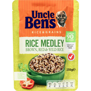 Uncle Ben's Rice Medley Brown, Red & Wild Rice 250g