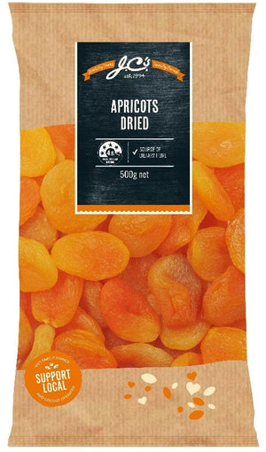 JCs Dried Apricots 500g