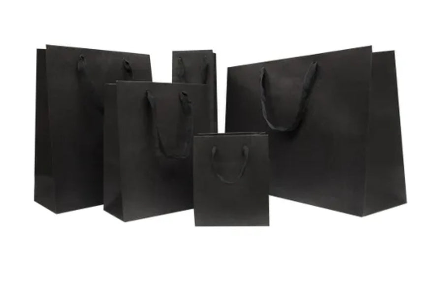 Gift Bag Metro Black 198x250x110mm