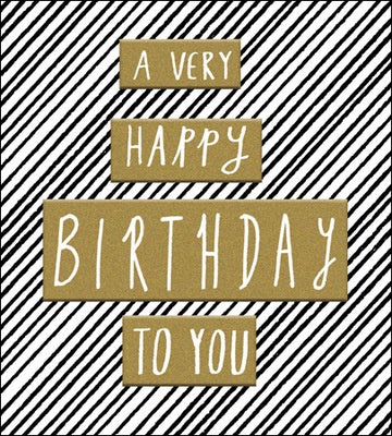 Greeting card - Happy Birthday - text on gold