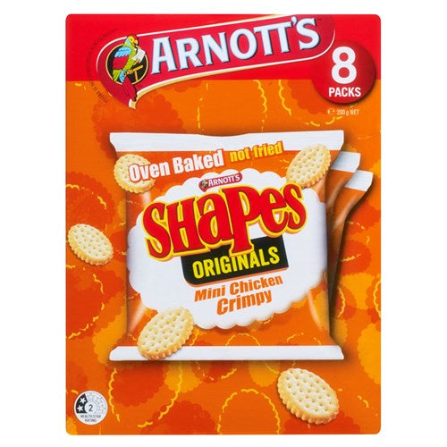 Arnotts Shapes Chicken Crimpy 8pk 200g