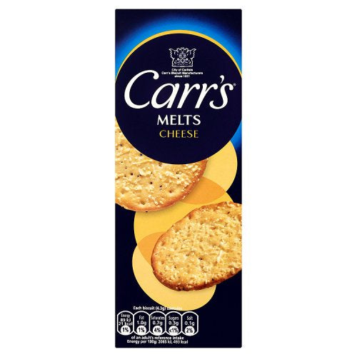 Carr's  Melts With Cheese Biscuits 150g