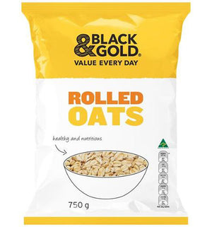 Black & Gold Rolled Oats 750g