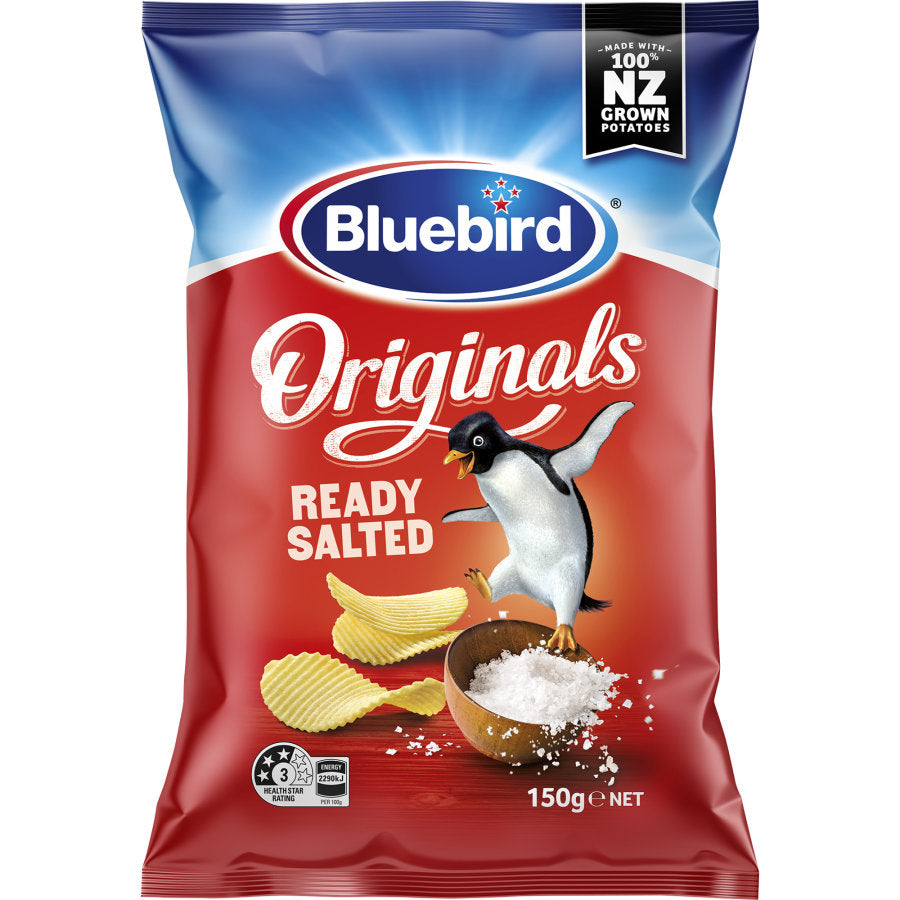 Bluebird Ready Salted Original  Chips 150g