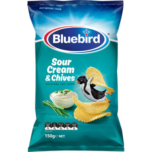 Bluebird Sour Cream  & Chives Chips 150g