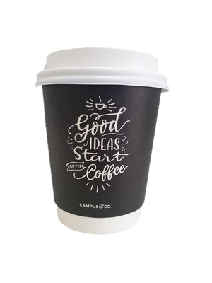 Campus & Co Coffee Cup Double Wall 8oz Chalk 25Pk