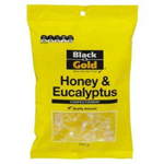 Black & Gold Honey & Eucalyptus Drops 250g