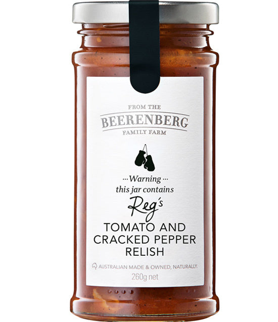 Beerenberg Tomato and Cracked Pepper Relish 265g