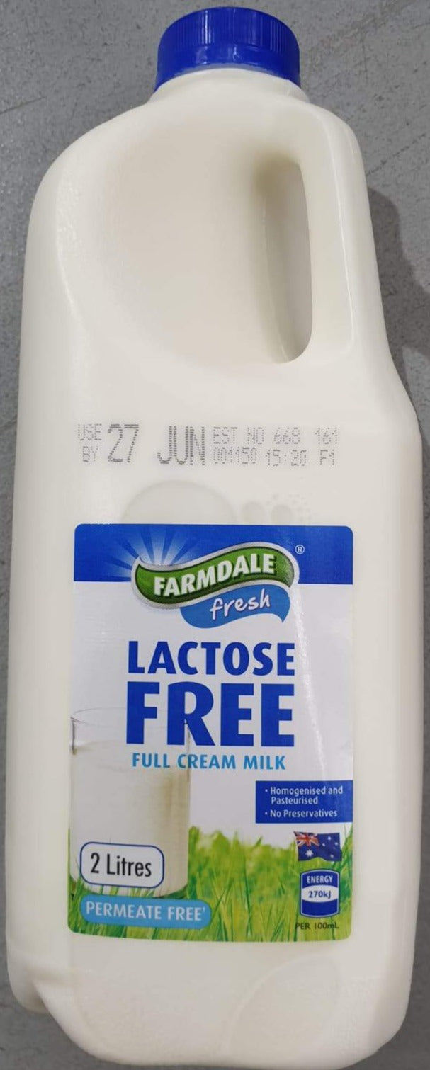 Farmdale Lactose Free Full Cream Milk 2L