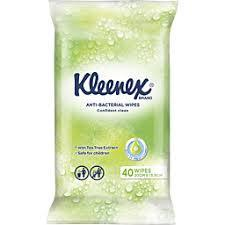 Kleenex Facial Tissue Wet Wipe Antibacterial 40pk