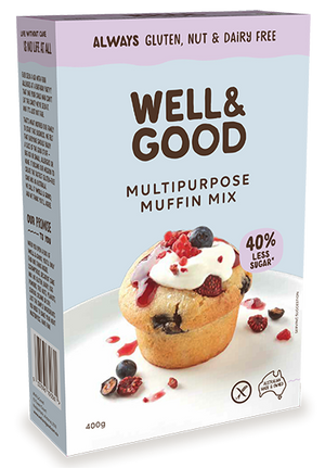 Well & Good Multipurpose Muffin Mix GF 400g