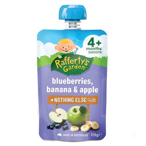 Raffertys Garden Blueberries,Bananna, Apple 120g   4 Months
