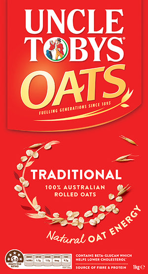 Uncle Toby Traditional Oats 1kg