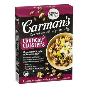 Carmans Cranberry and Apple Clusters 500g