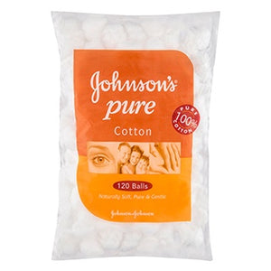 Johnsons Pure Cotton Balls White 120pk