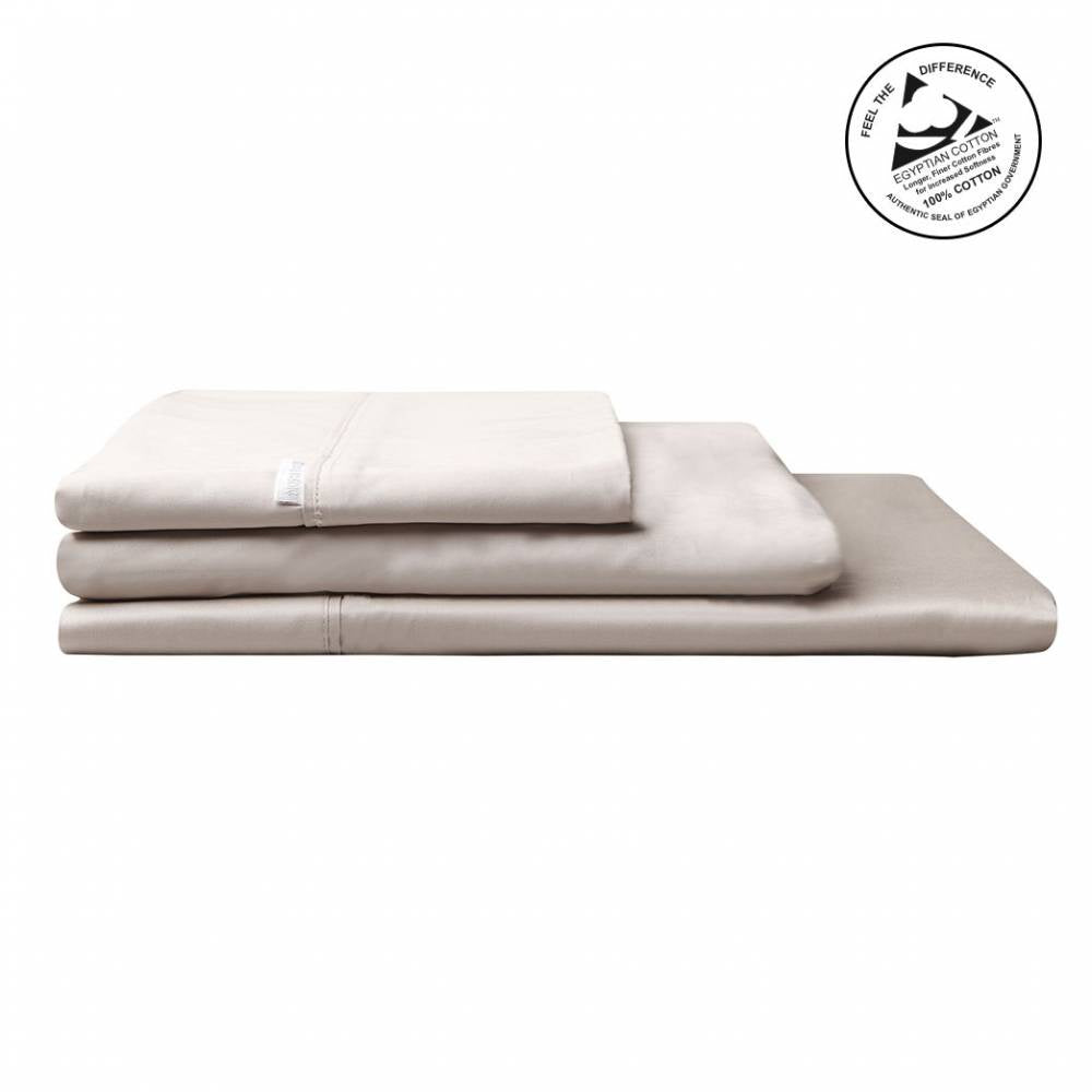 Logan & Mason Egyption Cotton King Sheet Set Sateen Linen  400 Count