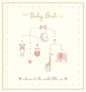 Greeting card - New baby - Girl