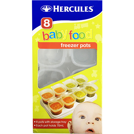 Hercules Baby Food Freezer/Paint Pots 8 pk